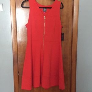 Vince Camuto Dress Front Zipper, Fit & Flare